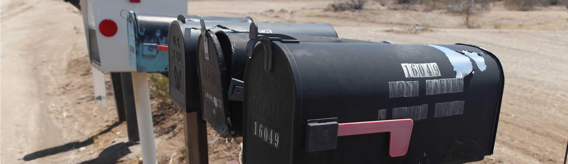 Amerikaanse brievenbussen nevada