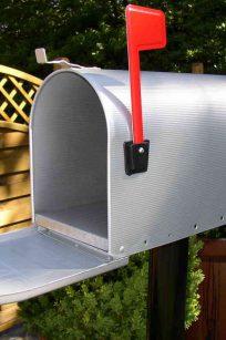 Original US-Mailbox Elite T-2 silver